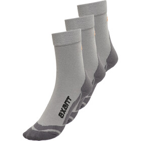 axant Trekking Socks 3 Pack Kids grey-orange